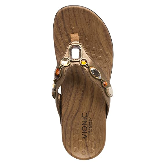 0c2c60223c8b1 Orthaheel Vionic Eve - Womens Supportive Thong Sandals Bronze Metallic - 10  Wide UK Size   8  Amazon.co.uk  Shoes   Bags