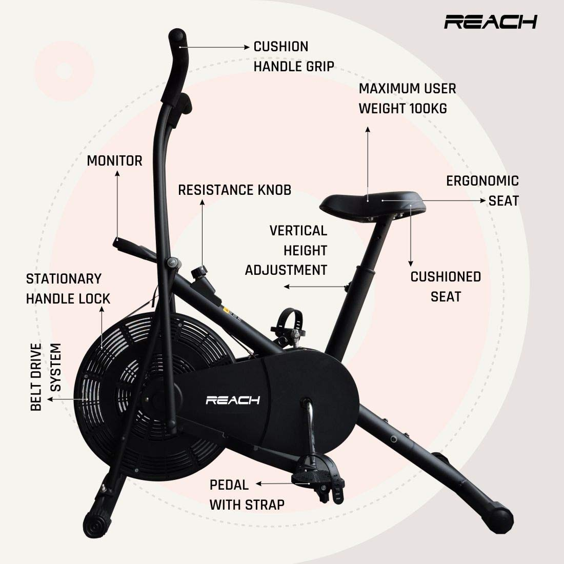 Best exercise cycle in India by Reach Brand