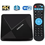 Android 6.0 TV Box, Dolamee D5 4K HD Smart Box with HDMI 2.0 Media Player Supports 2.4GHz WiFi for TV Entertainment