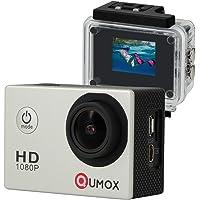 QUMOX SJ4000 - Cámara de Deporte para casco Impermeable, Video de Alta definición 1080p 720p Plata