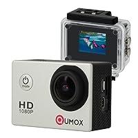 QUMOX Actioncam SJ4000, Action Sport Kamera Camera Waterproof, Full HD, 1080p Video, Helmkamera, Silber