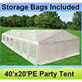 40'x20' PE Tent - Heavy Duty Party Wedding Canopy Carport Shelter - By DELTA Canopies