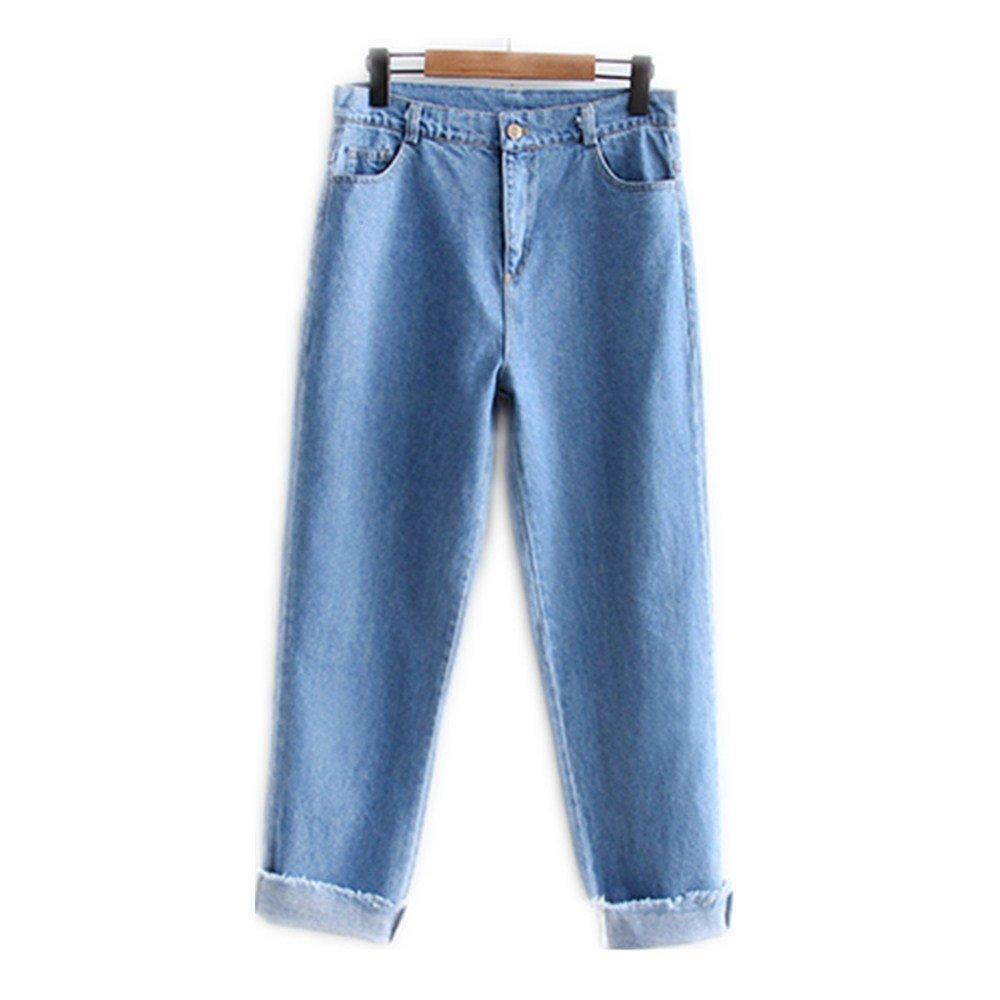 Pantalones vaqueros bordados fresa linda del diseño de los ...