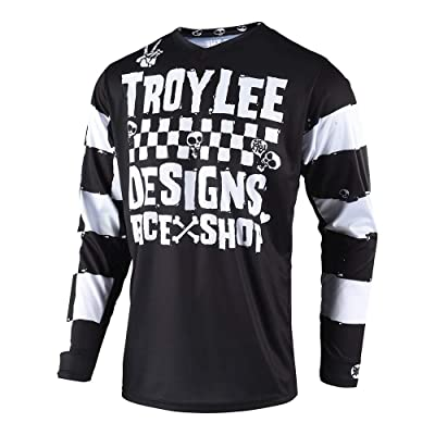 Troy Lee Designs Off Road Motocross GP Race Shop 5000 Jersey (Black, Small): Automotive