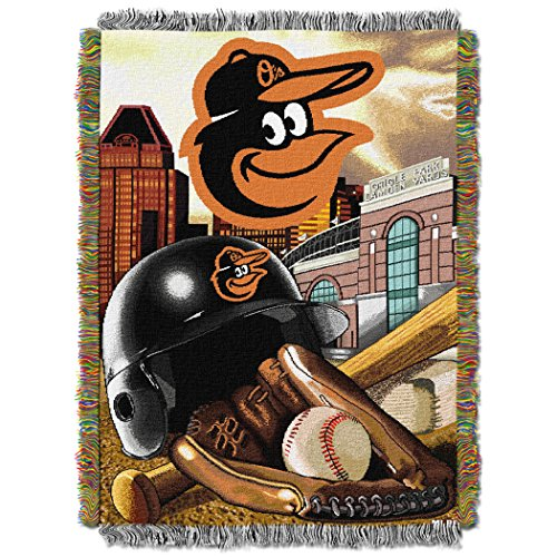 The Northwest Company MLB Baltimore Orioles Home Field Advantage Woven Tapestry Throw, 48