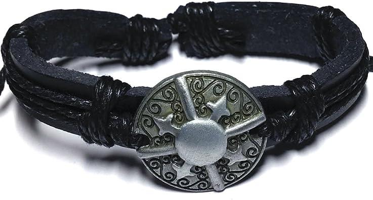 bracelet cuir rock