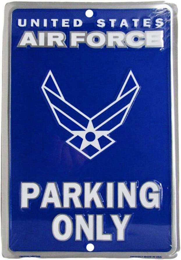 "Ant Enterprises United States Air Force USAF Wings Parking Only 8""x12"" Metal Plate Parking Sign"