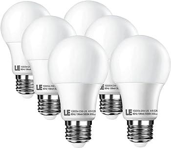 6-Pk. Lighting Ever 10W A19 E26 LED Light Bulbs