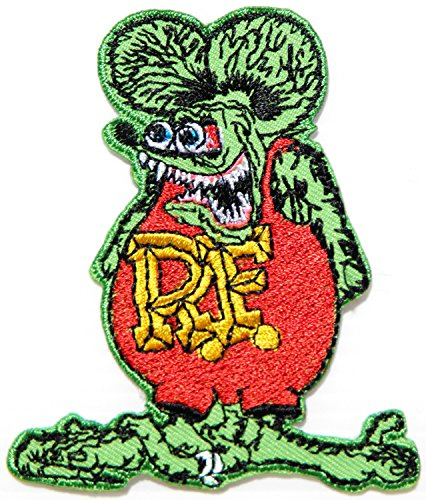 RAT FINK Hot Rod Big Daddy Team Car Racer Logo Sign Racing Patch Iron on Applique Embroidered T shirt Jacket Gift BY SURAPAN