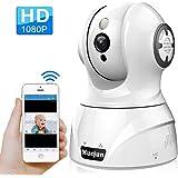 Mucjun Security Wireless IP Camera, HD 1080p WiFi Home Surveillance Camera Baby Monitor for Nanny/Elder/Pet, 2 Way Audio Night Vision Motion Detection Alert, Pan/Tilt/Zoom Remote -Work with Alexa