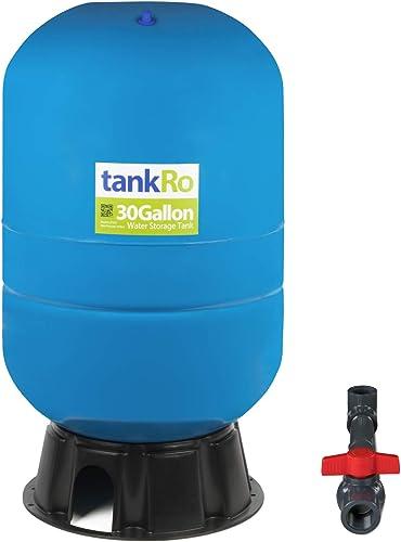 30 Gallon RO Expansion Tank Large Reverse Osmosis Water Storage Pressure Tank by tankRO with FREE Tank Ball Valve