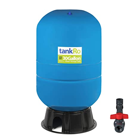 30 Gallon RO Expansion Tank – Large Reverse Osmosis Water Storage Pressure  Tank by tankRO – with FREE Tank Ball Valve