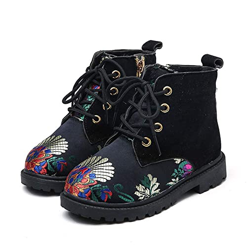 coollight Girls Boy Casual Combat Shoes Ankle Boots Style Kids Warm Snow Boots
