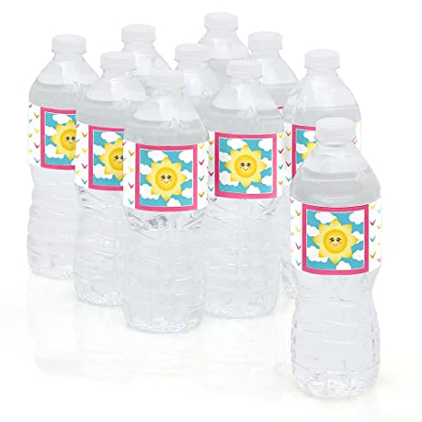 You Are My Sunshine   Baby Shower Or Birthday Party Water Bottle Sticker  Labels   Set