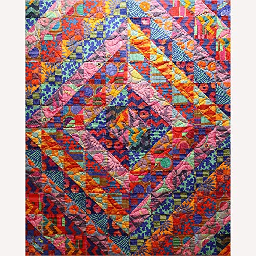 Kaffe Fassett Big Diamond Quilt Kit Featuring Kaffe Fassett Artisan Fabric (Top and Binding)
