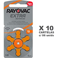 Bateria Pilha Auditiva Rayovac Tamanho 13 com 60 unidades