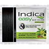 6 Pc Indica Easy10 Minutes Herbal Hair Color Shampoo Base Black Herbs
