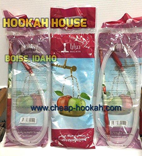 Mazaya Lot of 100 Healthy Disposable Hookah Hoses Shisha Nargila ...