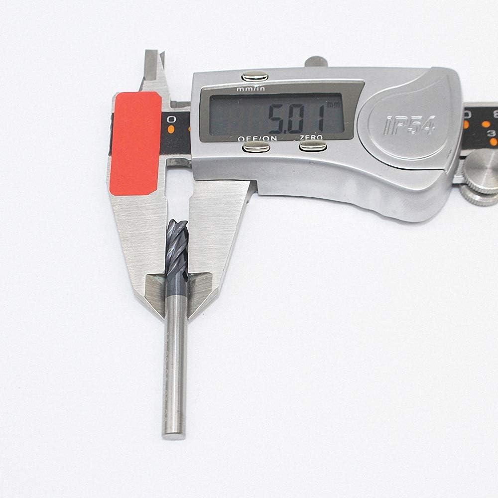 1PCS HRC50 5mm Solid Carbide Endmill D5X15LXD5X50L 4 Flute Standard Length Side milling Slotting Profiling face mill