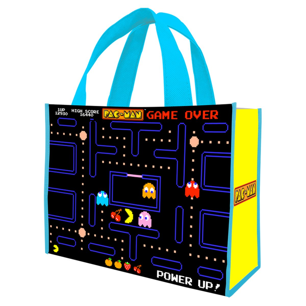 Recycled Pac-Man Shopper Tote Bag, Large
