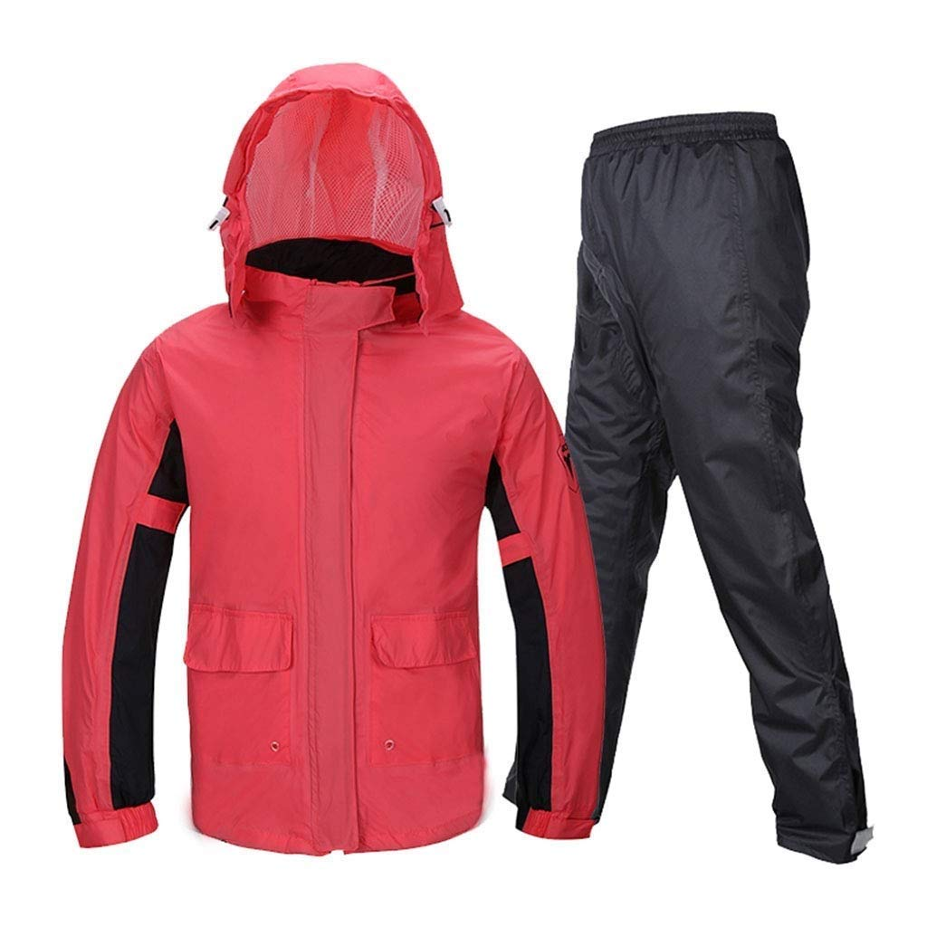 Women's Split Raincoat  Waterproof and Windproof Breathable Raincoat EcoFriendly Fabric Reflective Sticker Design Easy to Store Mountaineering Walking (Size   XXLarge)