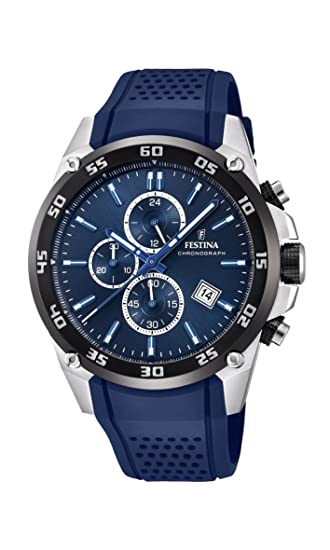 Amazon.com: Festina Chrono Sport F20330/2 The Originals Blue Watch: Watches