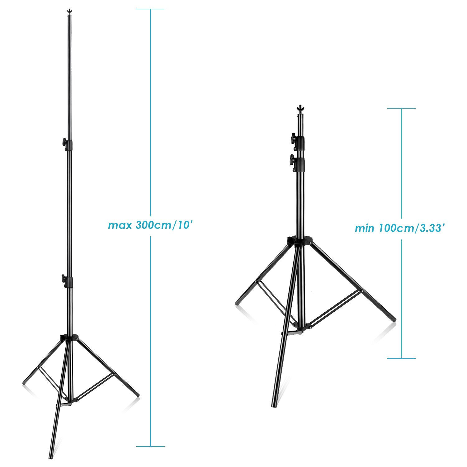 Neewer Pro 10x12 feet/3x3.6 Meters Heavy Duty Adjustable Backdrop Support System Photography Studio Video Stand with Carrying Bag for Backdrop Background by Neewer (Image #4)