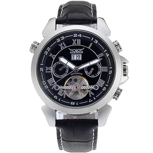 forsining automático para hombre Classic de calendario tourbillon banda reloj de muñeca jag057 m3s3: Amazon.es: Relojes