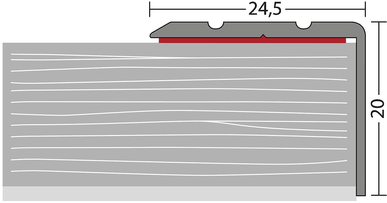Silber selbstklebend 1,00m Prinz Winkelprofil 162-24,5 x 20 mm