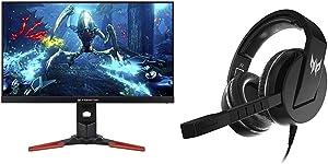 "Acer Predator XB271HU bmiprz 27"" WQHD (2560x1440) NVIDIA G-SYNC IPS Monitor with Acer Predator Galea 311 True Harmony Sound Gaming Headset"
