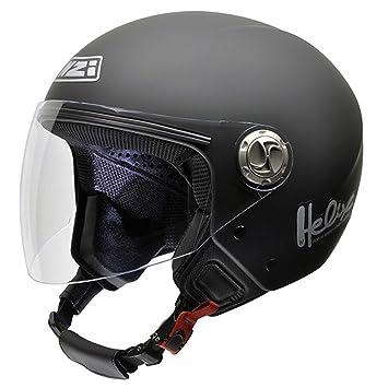 NZI 050203G067 Helix IV Metal Casco de Moto Goma Negro, Talla 54 (XS)