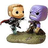 Funko Pop Bobble 2-Pack: Marvel: Movie Moments: Thor vs Thanos AIW Idea Regalo, Statue, COLLEZIONABILI, Comics, Manga, Serie TV, Multicolore, 35799