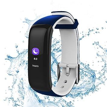 Resistente al agua reloj deportivo con Smart Watch 0.96 pulgadas grande colores OLED pantalla Tracking Fitness Reloj de pulsera con corazón rfrequenz ...