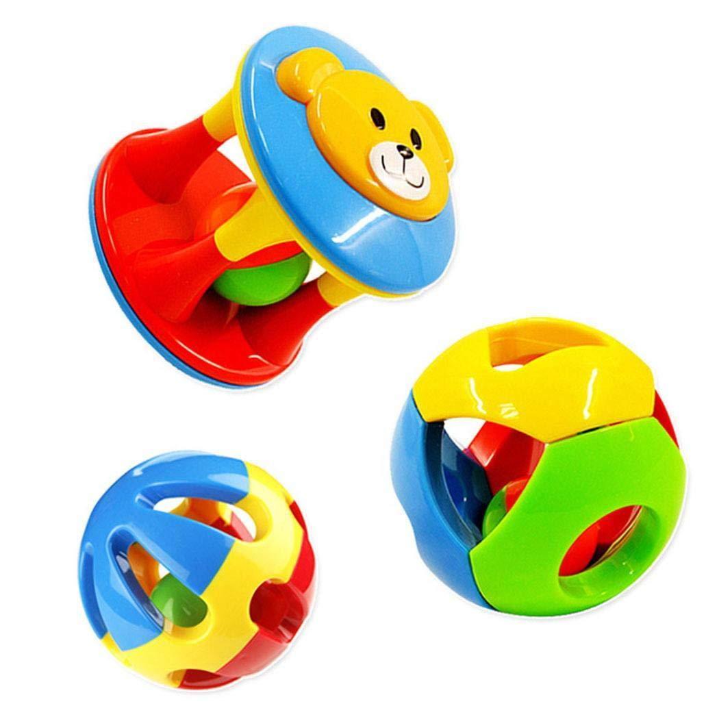 ThinIce Kids Cute Handbells Musical Developmental Toy Baby Rattle Toys Rattles