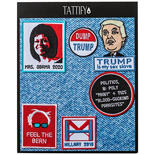 Tattify Political Burn Notice Embroidered Sticker Patch Collection - Stick Or Iron on Fabric, Clothing, Denim Jackets, Jeans, Phones and Laptops]()