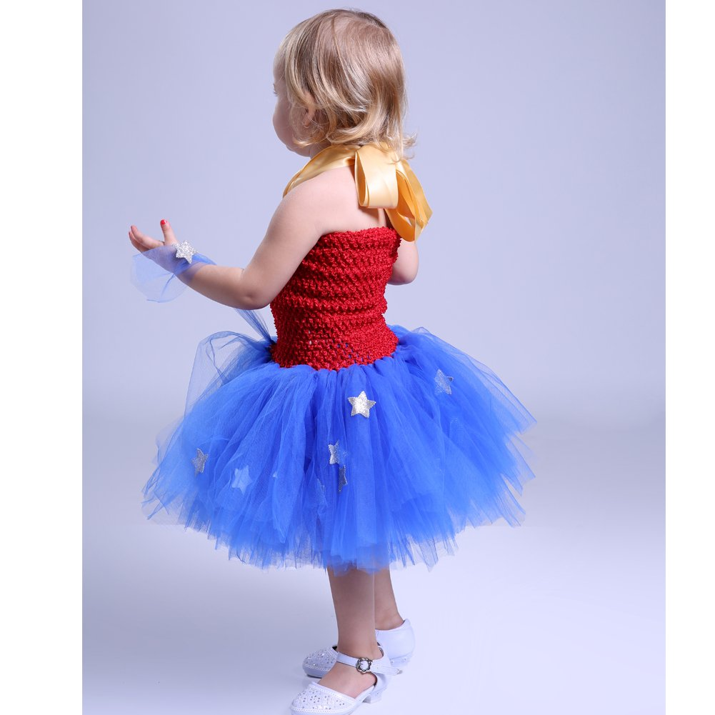 Moon Kitty Girls Captain America Costume Dresses Red by Moon Kitty (Image #6)