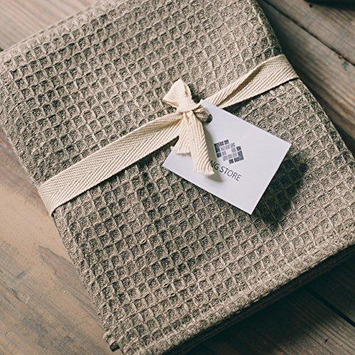 Hemmed Sport Towel (ThingStore Organic Flax Linen Bath Towel 28.5