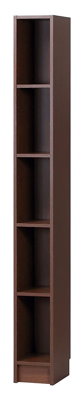 スリムな幅20cmタイプ A4マルチ隙間収納ラック 高さ180cm 転倒防止金具付き (ブラウン) B018Q94WXC  ブラウン