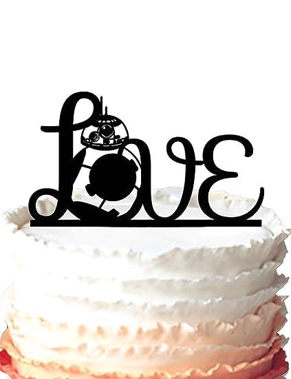 Outstanding Kaishihui Star Wars Inspired Bb 8 Love Wedding Cake Topper Amazon Personalised Birthday Cards Fashionlily Jamesorg