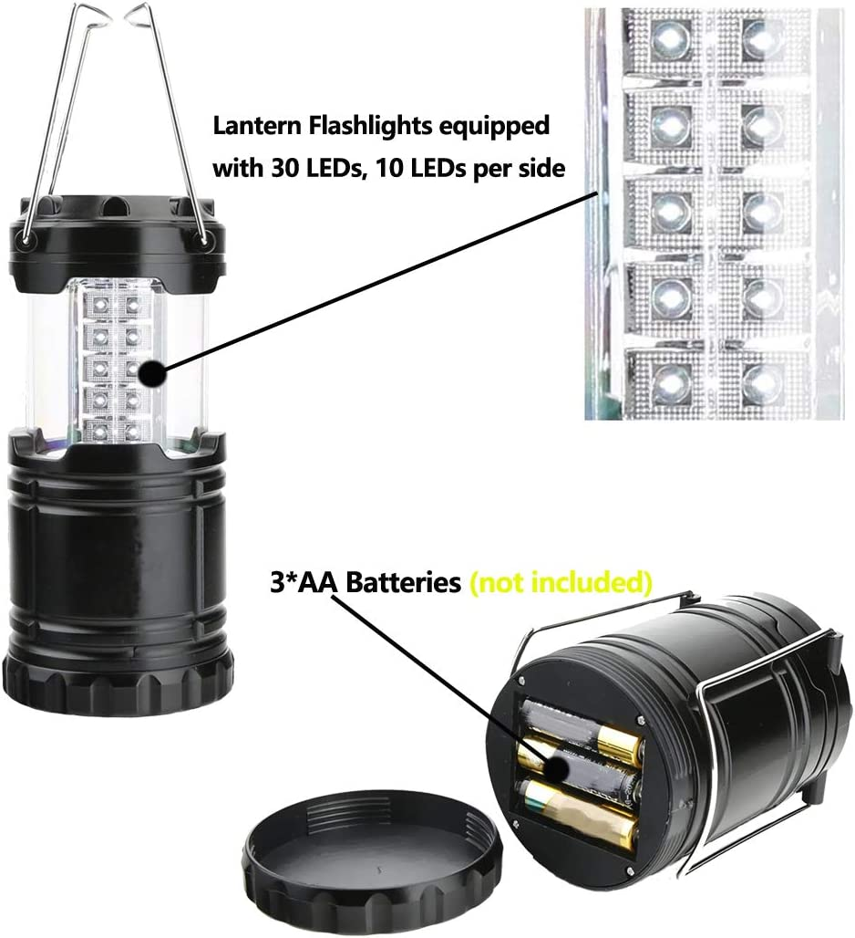 LED Lanterns Battery Powered Home Outdoor Storm Hurricane 2 Pack Led Lanterns for Power Outages Emergency Fishing Hiking Grey-COB Camping Tent Led Camping Lanterns Lights
