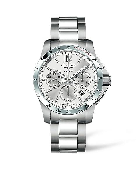 Longines L27434766 - Reloj de automático para hombre, con correa de acero inoxidable, color
