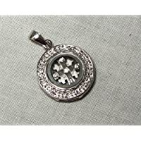 Rotating Jerusalem Crusaders Cross 925 Silver with CZ Stones 1.8cm