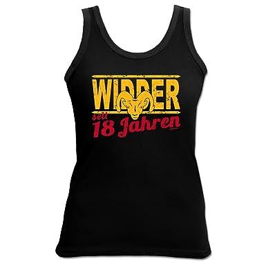 Damen Top Shirt Zum 18. Geburtstag   Widder 18 Jahre   Witziges Geschenk  Für Geburtstagskinder