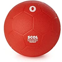 Visiodirect Ballon Handball en PVC SCOL'HAND Coloris Rouge - Taille 0 - Diamètre 15.2 cm