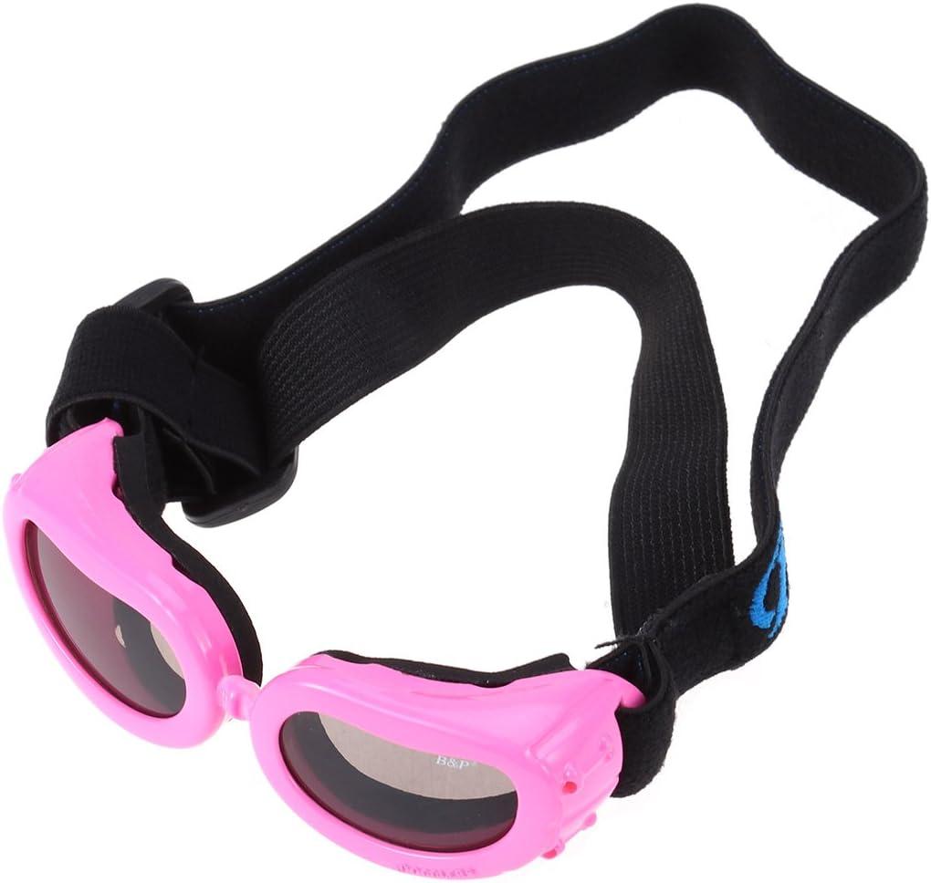ueetek Gafas de sol para perros y mascotas con correa ajustable de rosa