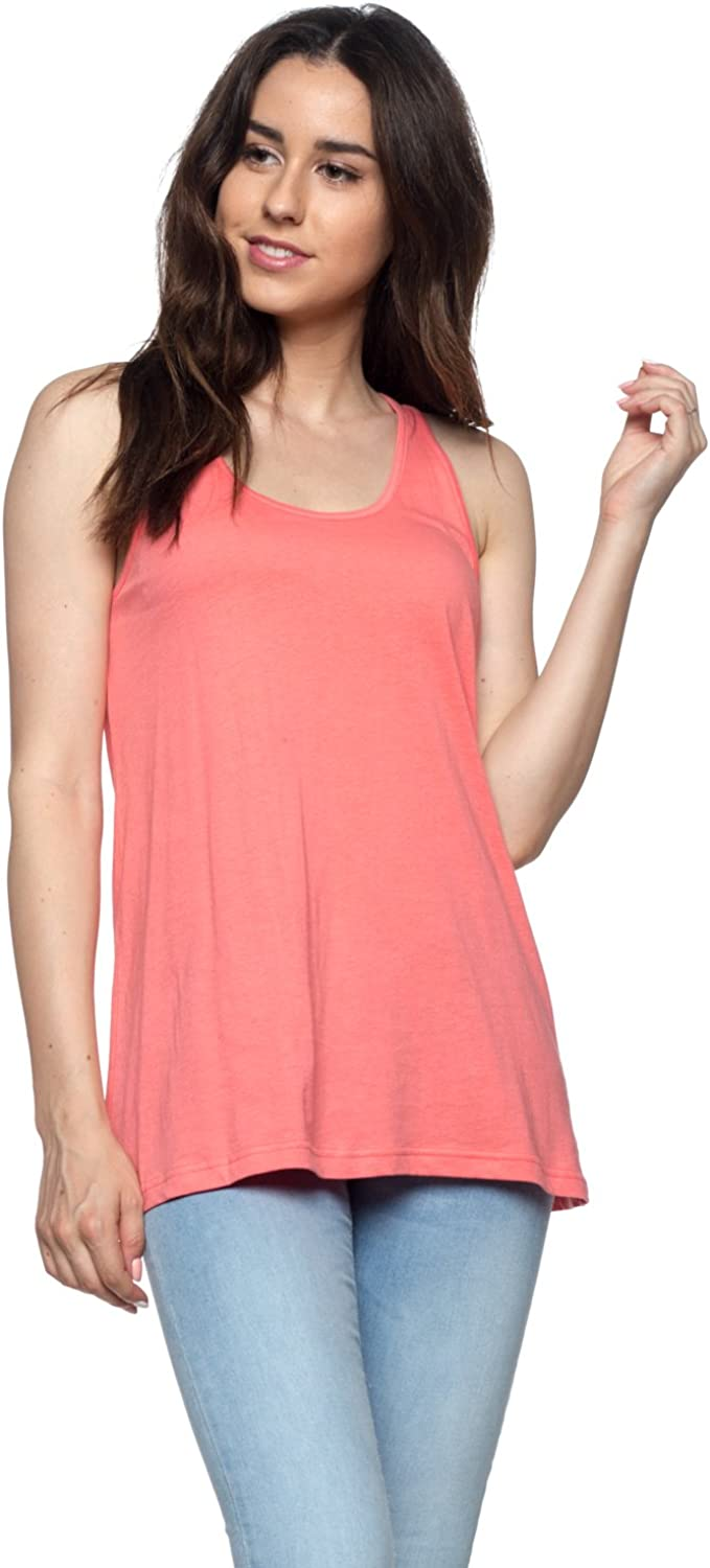 OSSAMI Women's Loose Fit Stylish Tank Top Relaxed Flowy Active Training Jersey Yoga Workout