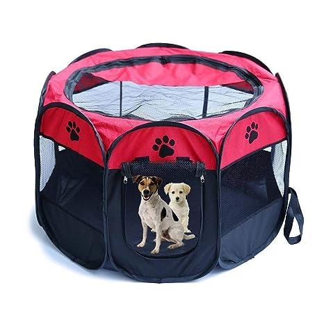CWYSJ Tienda de Mascotas Plegable portátil corralito, Cachorro ...