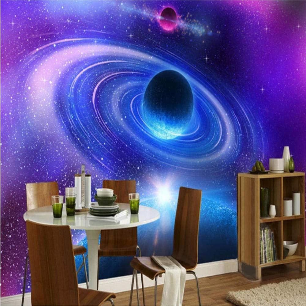 Photo Mural Moderne pour Salle de bain Salon Chambre D/écoration 140CMx100CM Univers 3D Papier Peint Autocollant Mural Intiss/é Papier Peint Photo Galaxie