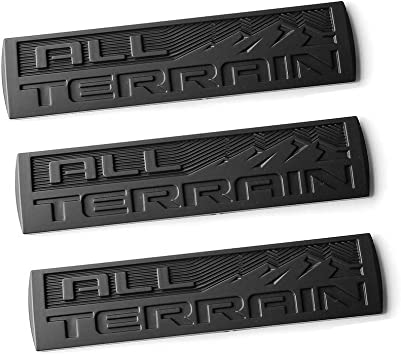 2x New Black All Terrain Badges Emblem 3D for 2014-18 GMC Sierra Canyon Red L1