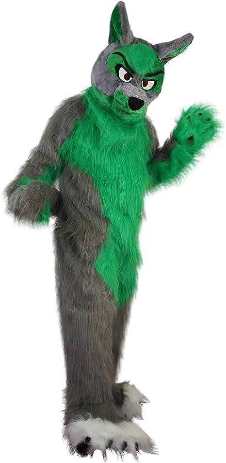 Langteng - Disfraz de Lobo Verde, Color Gris, de Hada de Fox, 15 ...